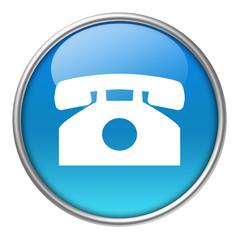 Bottone vetro telefono