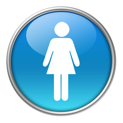 Bottone vetro donna