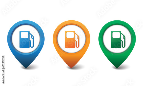Gas pump icon vector illustration