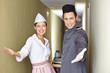 Freundliches Service-Team im Hotel