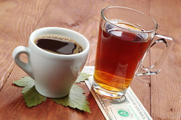Coffee, tea and one dollar