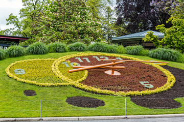 Flower clock in Geneva