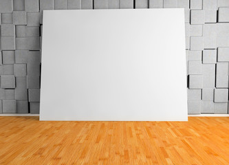 Blank poster in a room