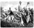 Leinwandbild Motiv Ancient Rome - Cesar crossing the Rubicon