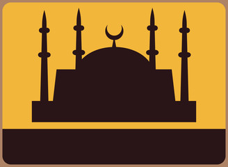 Mosque symbol. Place for any text.