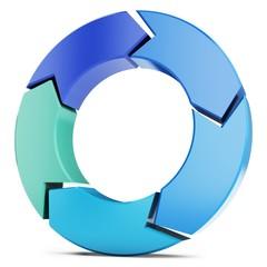 3d arrow circle