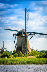 Close up of Dutch windmill