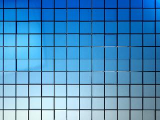 3D blue mosaic