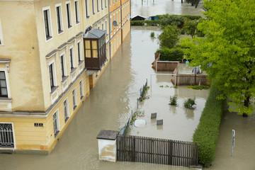 Hochwasser in Linz Donau