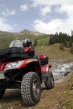 Das ATV in den Bergen