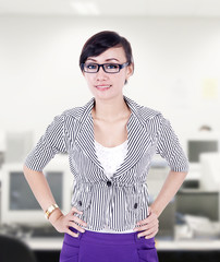 Beautiful businesswoman pose at office