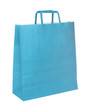Blue papper shopping bag isolated