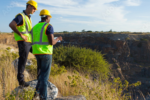 surveyors working at mining site