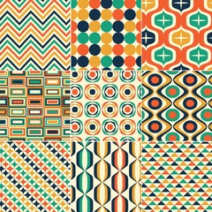 seamless retro pattern print