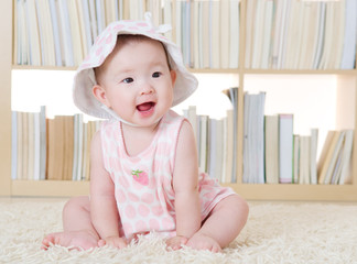 Portrait of a smiling baby girl