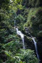 Waterfall in Maui Hawaii on the Road to Hana
