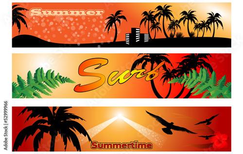 poster of set of summer banner