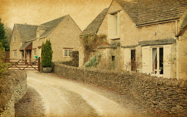 Bibury - Village in Gloucestershire,  England, UK.