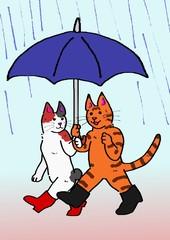 相合傘の猫