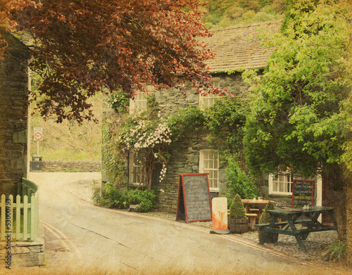 cafe in a small village near Keswick, Lake District, UK.