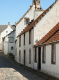 OLd street in Culross, Scotland, UK
