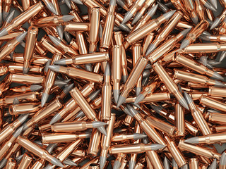Heap of Rifle Bullets Background