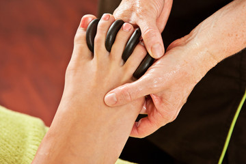hot rocks massage, feet