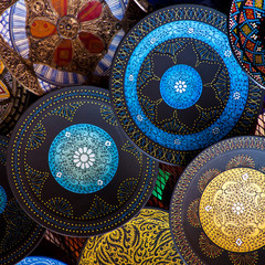 Morocco crafts: traditional arabic pottery.