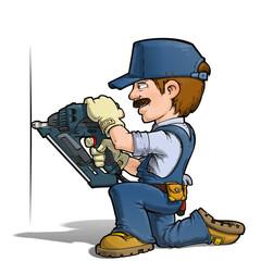 Handyman - Nailing Blue