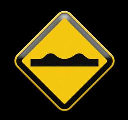 Road Sign beware knobbed