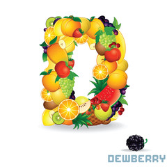 Alphabet From Fruit. Letter D