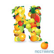 Alphabet From Fruit. Letter N