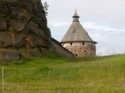 Arkhangelsk tower of the Solovki monastery, Russia