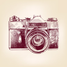 vieux millésime appareil photo vecteur llustration