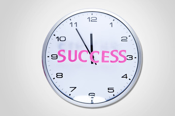 Wall clock with word success