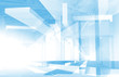 Abstract blue architecture background