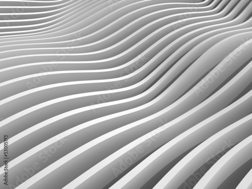 Abstract monochrome 3d wave background