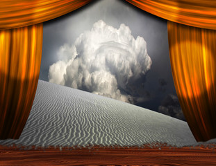 Desert sands creep into theater scene