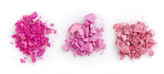 Pink crushed eye shadows