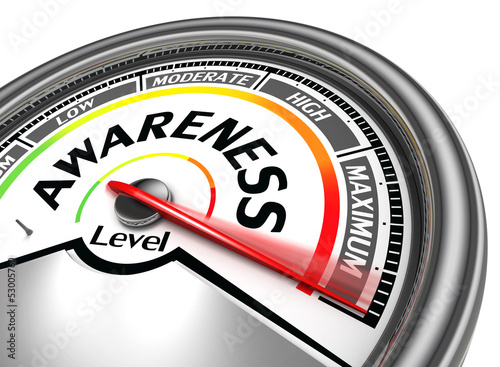 Leinwandbild Motiv awareness level conceptual meter