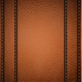 Stitched camel colored leather background