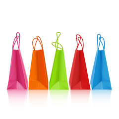 Five colorful shopping bags - eps8