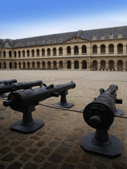 Cannons in Les Invalides (Hôtel des Invalide) in Paris, France.