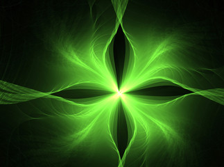 Fractal art - green background