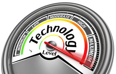 technology level meter indicate maximum