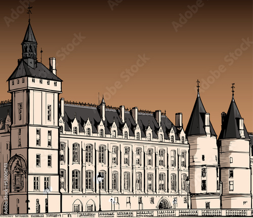 The castle of  Conciergerie