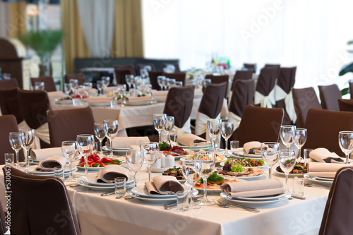 Table set for event party or wedding reception - 53006775
