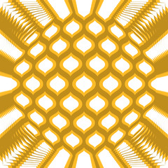 Abstract golden yellow geometric background, vector