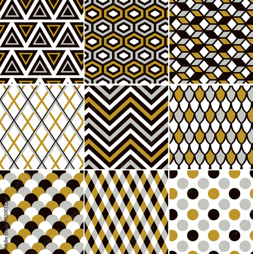 seamless gold pattern print