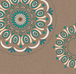Vector Vintage background with oriental ornaments